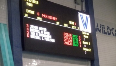 Villanova University swimming Video Display