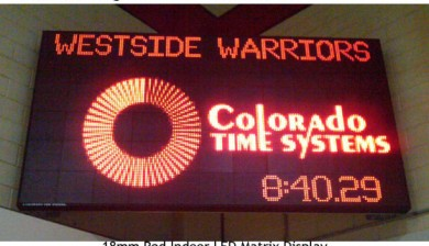 westside high school swimming scoreboard with text and animations