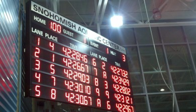 snohomish aquatic center swimming scoreboard