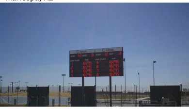 maricopa multi-generational aquatic center swimming scoreboard