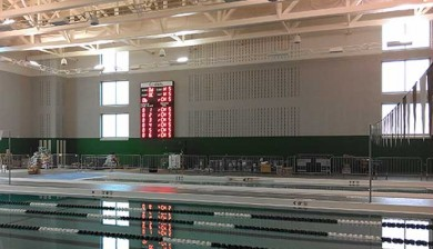 swimming scoreboard at saint charles high school