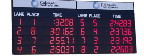 numeric swimming electronic scoreboard