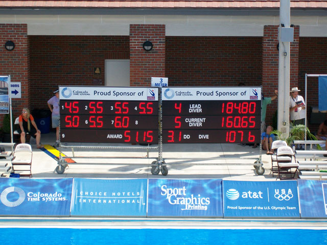 diving electronic scoreboard - portable