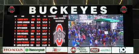 Ohio State University 10mm SMD Video Display and Swimming Scoreboard