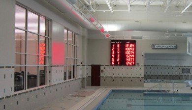 akron health and wellness swimming scoreboard
