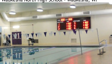 waukesha north high school swimming scoreboard
