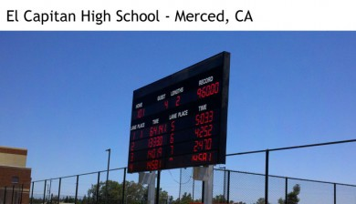 el capitan high school swimming scoreboard