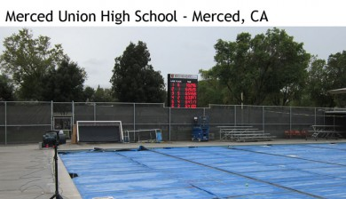 merced union high school swimming scoreboard