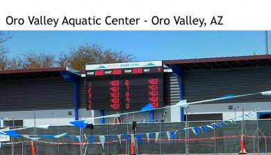 oro valley aquatic center swimming scoreboard