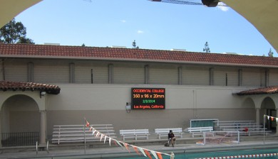 occidental college swimming video scoreboard