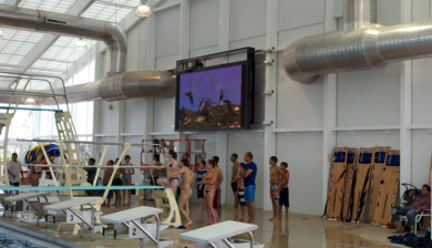 video display and swimming scoreboard