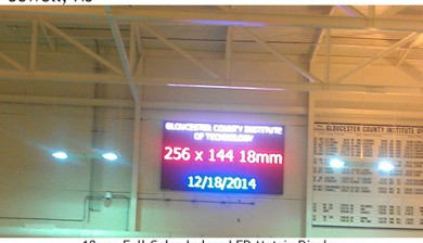 Gloucester Institute of Technology swimming video scoreboard