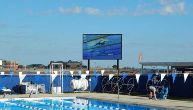 25mm video display and swimming scoreboard