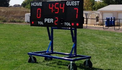 multisport LED scoreboard used as football scoreboard at Greeley West High School