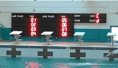 swimming scoreboard at rio grande high school