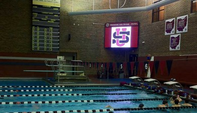 University School Video Board and Swimming Pool
