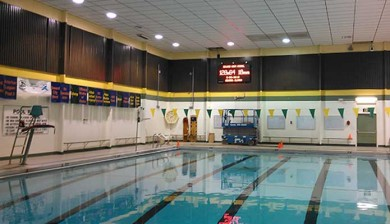 Seward High School Swimming Scoreboard and video display