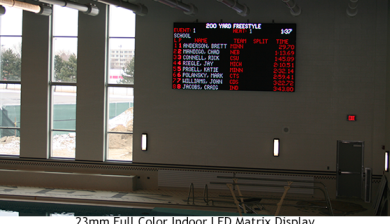 23mm video display and swimming scoreboard