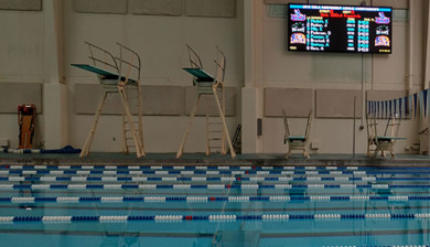 9mm video display and swimming scoreboard