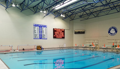 23mm red indoor led matrix display and swimming scoreboard