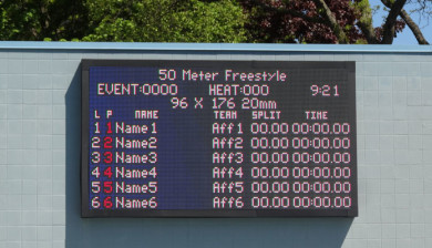 20mm video display and swimming scoreboard