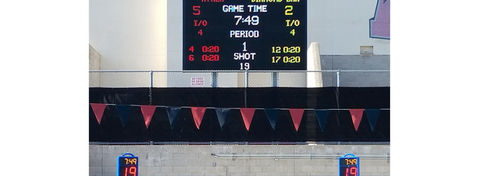 20mm video display and water polo scoreboard