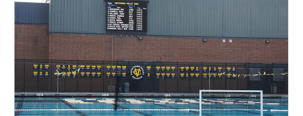 Capistrano Valley High School 16mm Full Color LED Matrix Video Display and Swimming Scoreboard