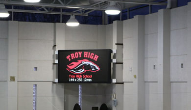 Troy High School 12mm SMD Video Display and Swimming Scoreboard