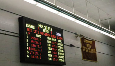 Bay City Western High School 12mm SMD video display and swimming scoreboard