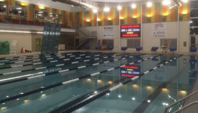Benton River Center 12mm SMD video display and swimming scoreboard