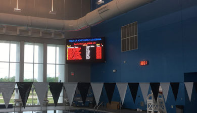 YMCA of Northwestern Louisiana 10mm SMD Video Display and Swimming Scoreboard