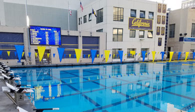 16mm video display and swimming scoreboard